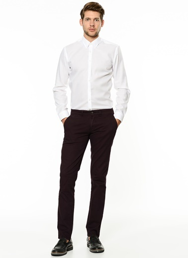 George Hogg Slim Fit Chino Pantolon Mürdüm